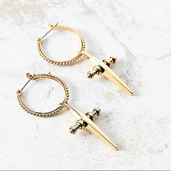 Luv Aj Jewelry Gold Cross Hoop Earrings Poshmark
